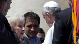 Estela de Carlotto meets Pope Francis