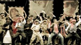 Children dancing in a scene from the film Bombay Talkies