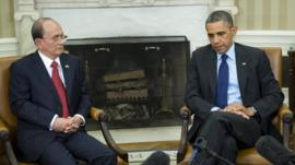 Burmese President Thein Sein and President Barack Obama