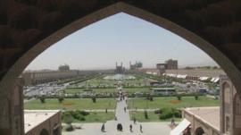 View across square in Iran