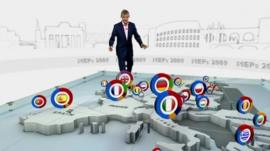 Jeremy Vine and European election graphic