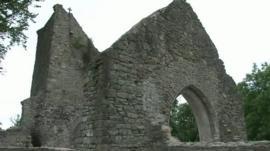 Church remains above Caerau