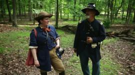 Rachel Egglestone-Evans and Union soldier