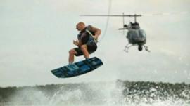 Man wakeboarding.