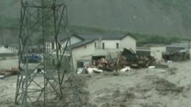 Homes damaged by floods