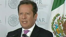 Mexican government spokesman Eduardo Sanchez Hernandez