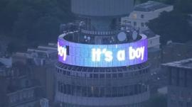 Display on BT Tower reading:
