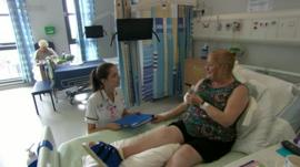 A patient on a ward