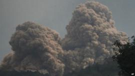 Mount Rokatenda spews volcanic ash