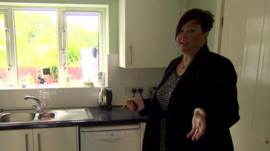 Estate agent Jayne Morris in kitchen
