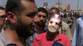 Protesters near Ramses Square, Cairo