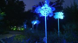 The illuminated gardens at Chaumont
