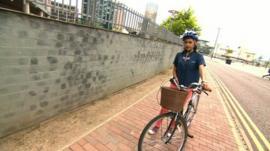 Nel on a bike