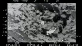 RAF footage of the rescue on Cader Idris