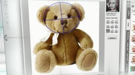 A toy bear being animated using the Crazy Talk tool
