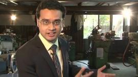 Sameer Hashmi in factory