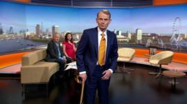 Andrew Marr on set