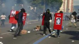 Independence Day protesters in Brazil