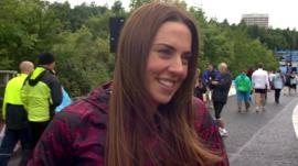 Mel C at Great North Run