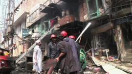 Aftermath of Peshawar blast