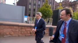 James Landale, right, asks Lynton Crosby about UKIP