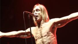 Iggy Pop performing at Glastonbury