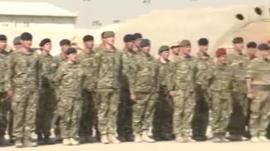 Camp Bastion handover ceremony