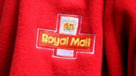 Royal Mail logo on jacket
