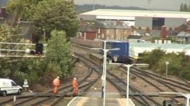 Scene of the derailment