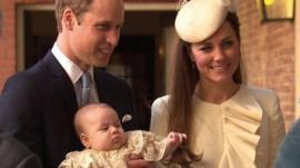 Prince George was carried into the chapel by his parents, the Duke and Duchess of Cambridge