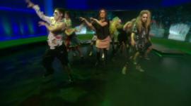 Newsnight presenter dancing to thriller