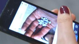Pills on mobile phone