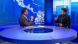 Screengrab from World TV discussion