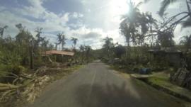 A road on Cebu Island