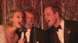 Taylor Swift, Jon Bon Jovi, and Prince William
