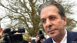 Charles Saatchi outside Isleworth Crown Court