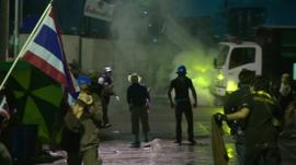 Police in Thailand have clashed with anti-government protesters
