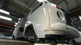 Volkswagen Kombi on the production line