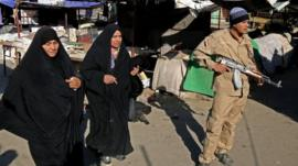 The site of a bombing in a Christian section of Baghdad, Iraq