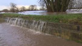 River Severn bursting its banks