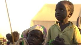 Displaced children in South Sudan