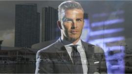 David Beckham and the Miami Skyline