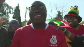 Komla Dumor in Ghana football strip