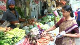 indian vegetable stall
