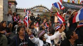 Protesters in Thailand