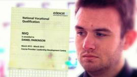 Oasis Academy student Daniel Parkinson said he has no qualifications
