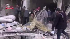 Amateur footage apparently showing aftermath of attack