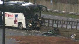 Crashed coach