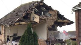 The house damaged in Clacton blast