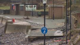 Storm damage in Deganwy